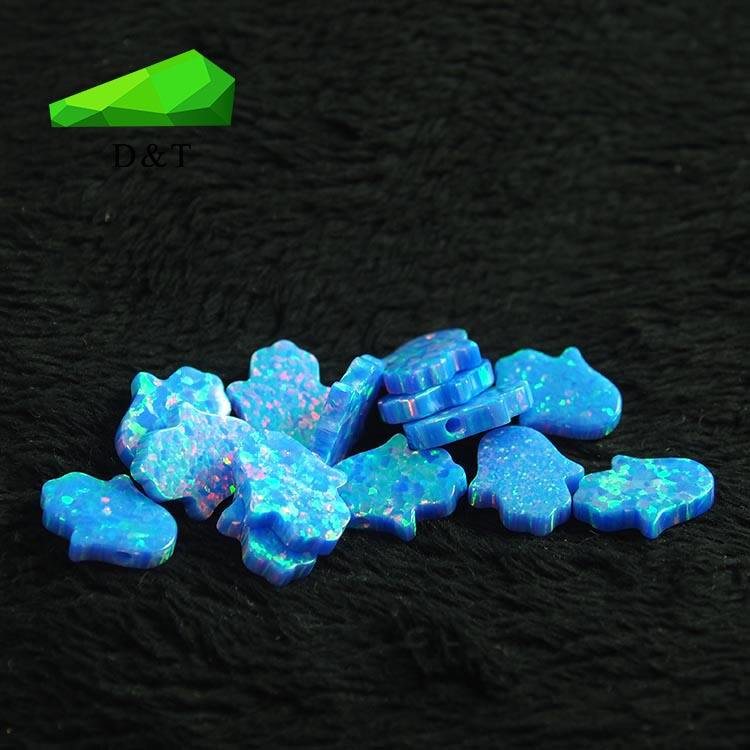 Opal hamsa hand synthetic opal rough stones lab created opal