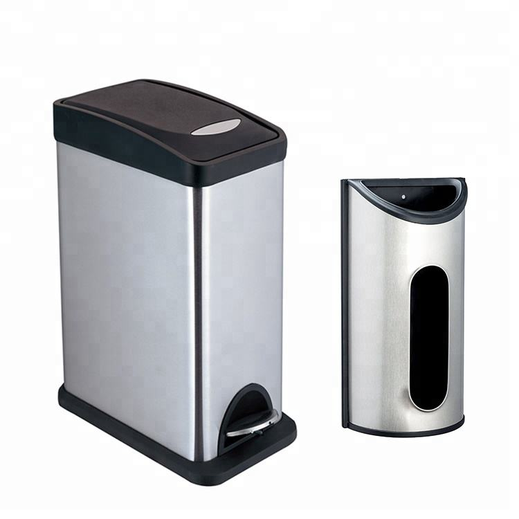 home hotel toilet Stainless Steel Pedal Waste/Rubbish/Trash/garbage bin with bag saver
