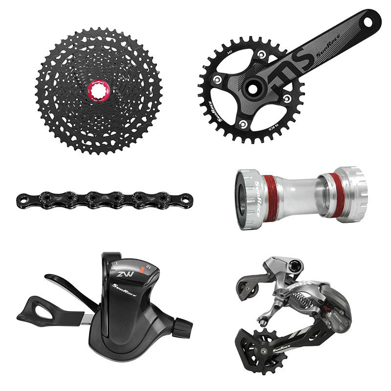 Sunrace 12 Speed CSMZ80 11-50T Bicycle Groupset Mtb Bike Cassette Shifter Rear Derailleur 110L Chain 36T Crankset Bottom Bracket