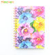new cute hardcover school coil spiral composition notebooks school stationery supplies,college line paper,80 sheets,A5