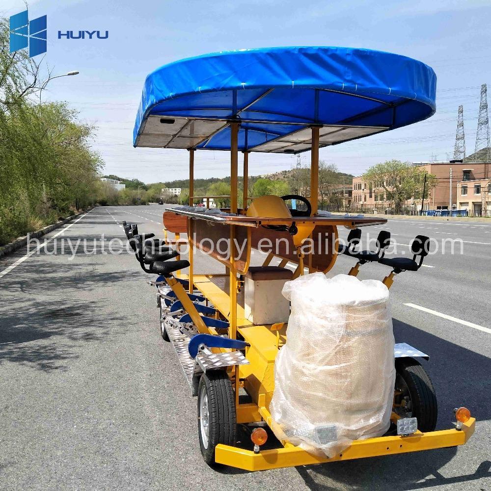 Visitas guiadas vendedor ambulante negocio atracciones equipo paseo bicicleta pública venta panel solar Pedal Bus ciclo tours
