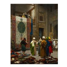 Famous Orientalism Style Carpet Merchant Canvas Arab Art Oil Painting