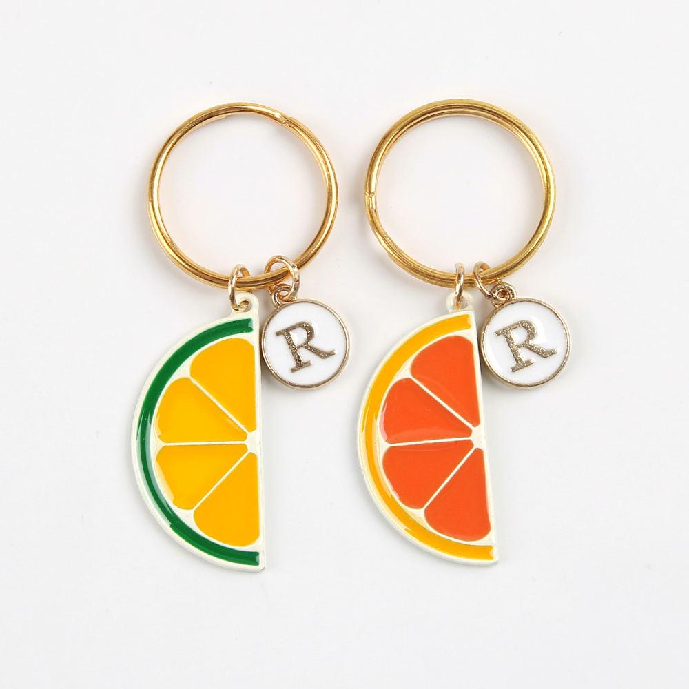 Lemon Fun Novelty Fruit With Faces Keyrings Orange Or Watermelon