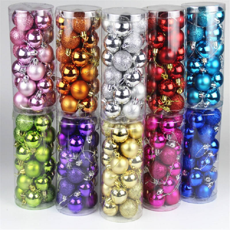 Decorative beautiful boxed glass Christmas balls ornaments