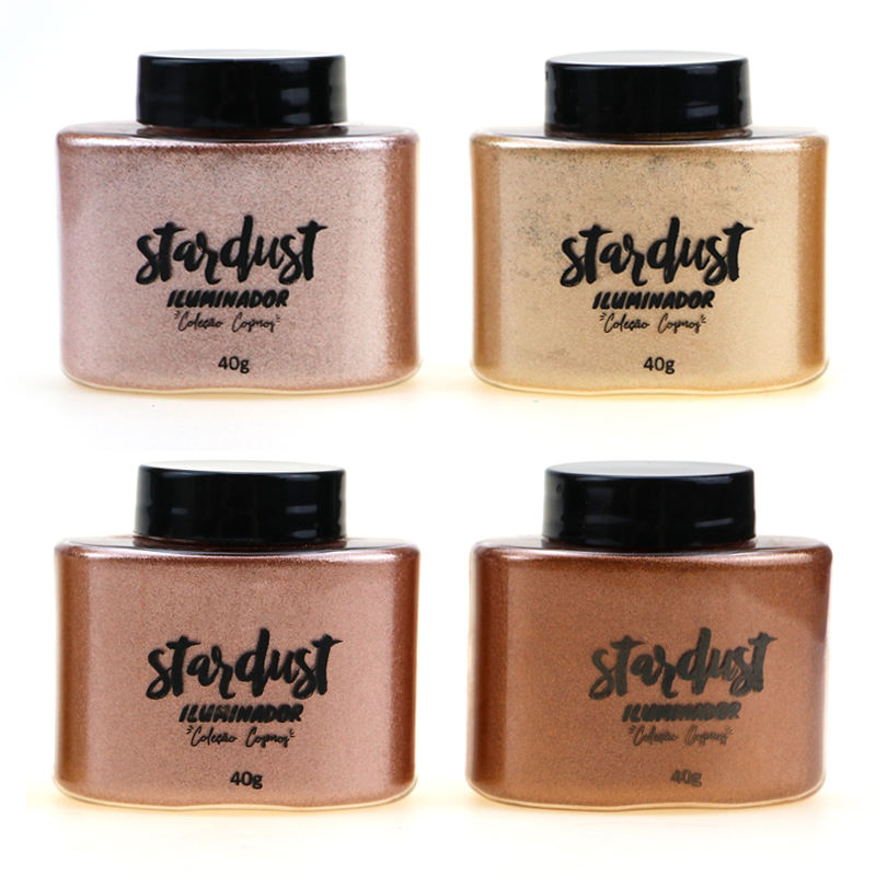 Best Selling Cheek Highlighter Powder in Bottle 4 Shades Private Label Loose Highlighter Makeup