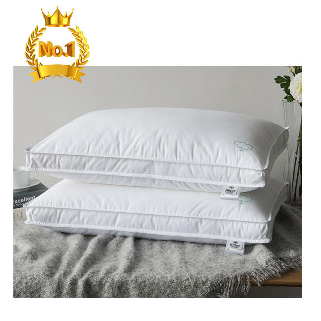 Custom shaped 5 star luxury marriott hilton pillow polyester goose down duck feather hilton pillow microfiber hotel pillow