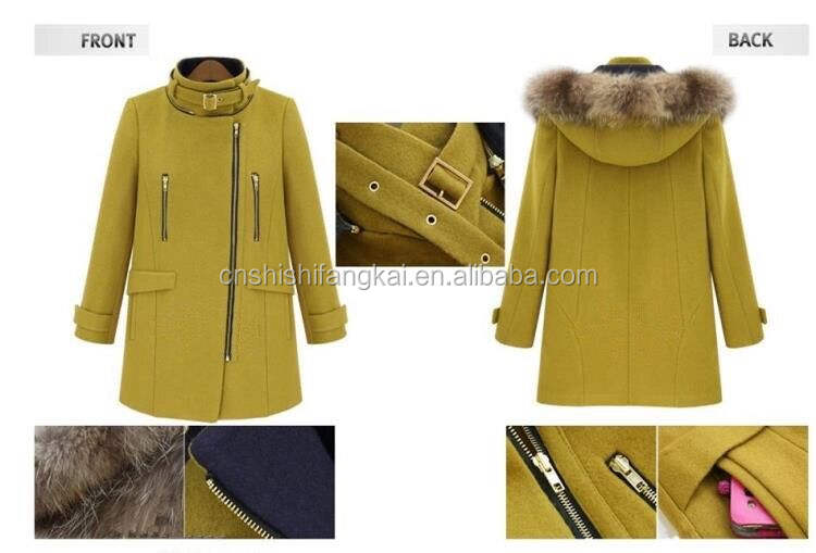 Plus Ukuran Abu-abu Mantel Wol Wanita Mantel Panjang Lengan Panjang Dress Tunggal Tombol Turn Down Collar Wanita Mantel Womens Musim Dingin jaket
