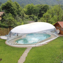 Outdoor customized transparent inflatable pool dome with covered ceiling from China inflatable pool cover factory