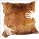 Genuine patchwork decorative Single Sided throw Pillows cushions processing seven colored Rabbit Fur Cushion Cover