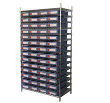 plastic warehouse storage bins wire shelving rack