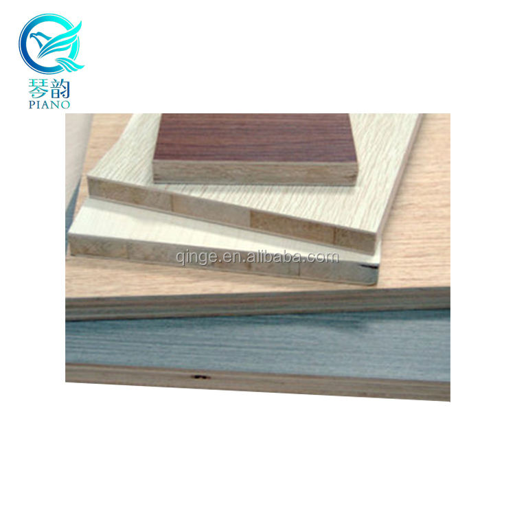 15mm 18mm melamine paper laminated pine wood block board
