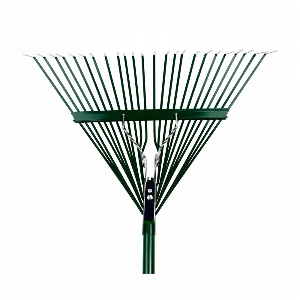 wholesale lawn multicolor steel garden leaf rakes