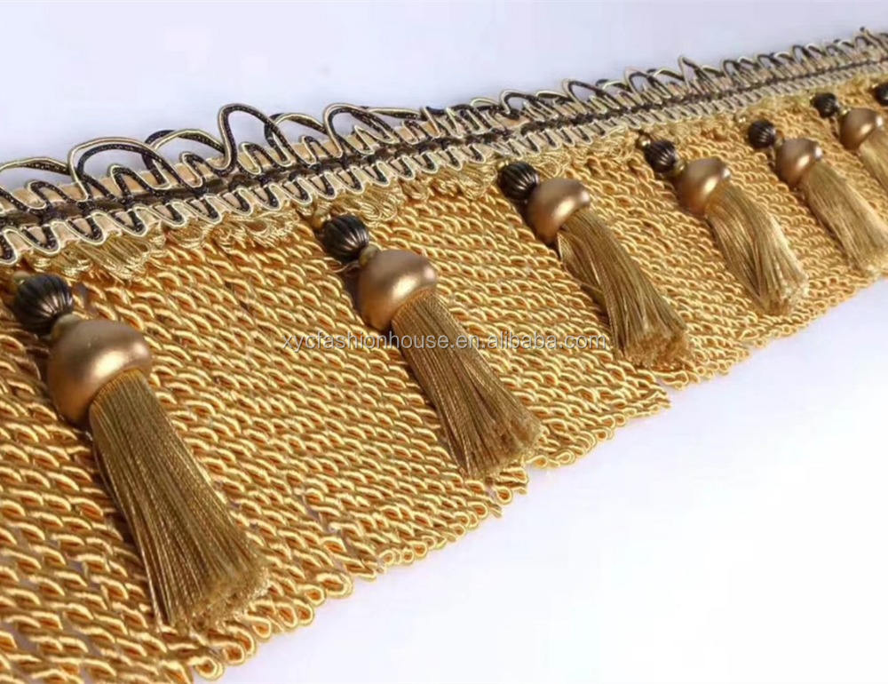 Carpet Curtain Tassel Fringes and Trims for Sofa,Valance,Tapestry,Carpet and Cushion Cover home Accessory