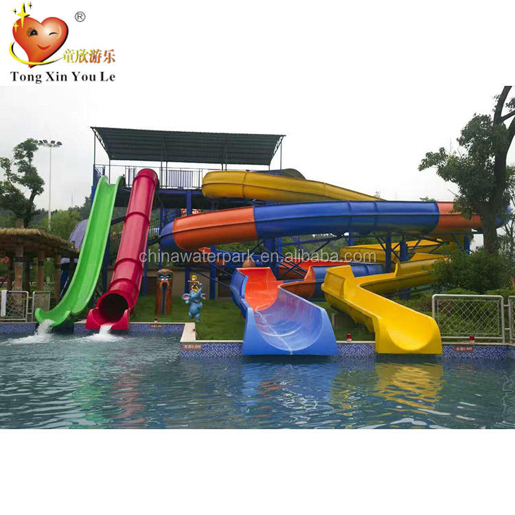 Best price exciting water rides fiberglass water slide Barrel and sled slide