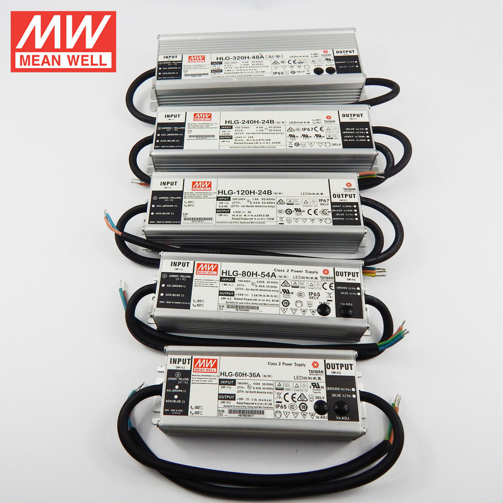 Best sale 6W to 600W global certificate meanwell led driver 2-7 years warranty
