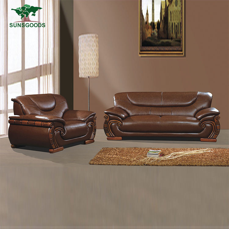 Factory Supply Modern Design Leather Sofa ,Top Grain Leather Sofa Living Room