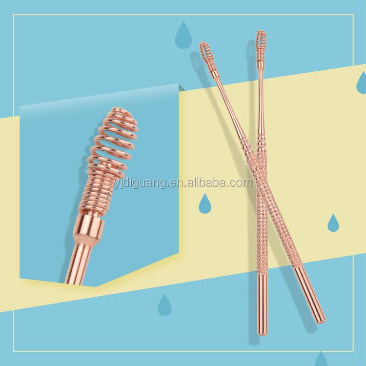 4.5 pulgadas <span class=keywords><strong>primavera</strong></span> cera del oído Pick Acero inoxidable earwax removal oro rosa