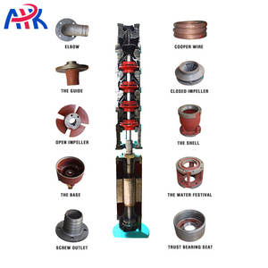Three Phase 3phase 380v 440v 60hz Centrifugal Multistage Deep Well Water Submersible Pump