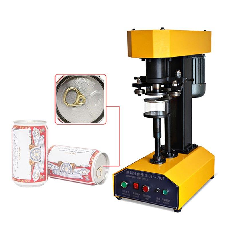 tdfj-160 high quality pet bottle sealing machine / canning seamer / can sealer for tin can