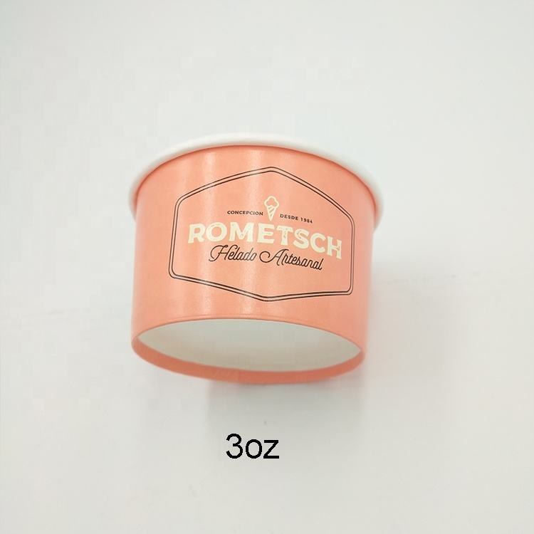 3oz 100ml disposable double wall paper ice cream cup