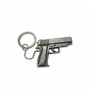 Top Selling High Quality 3D Metal Gun Keychain with Custom Logo