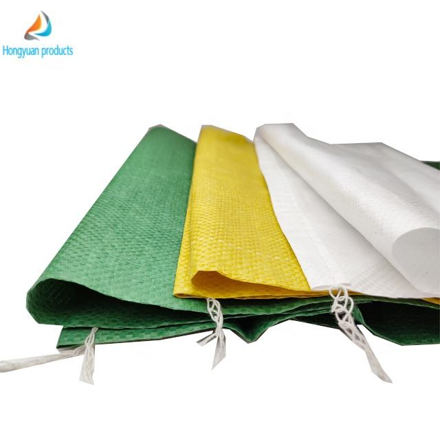 25kg 50kg high quality white color pp woven bags for grains rice flour PP laminated woven bag