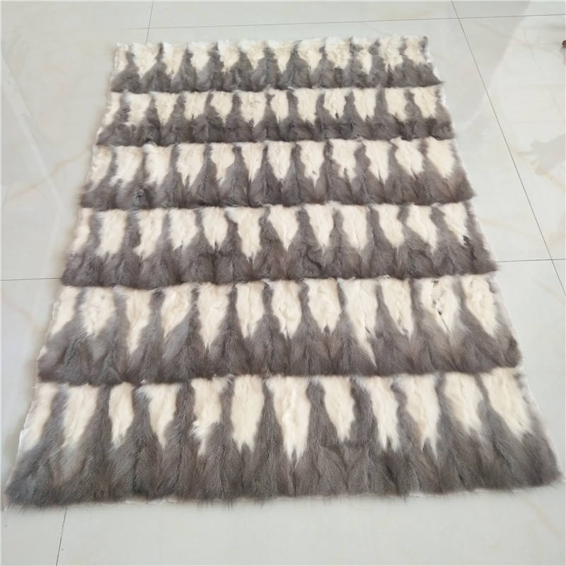 China fur factory wholesale grey white squirrel vair fur plate