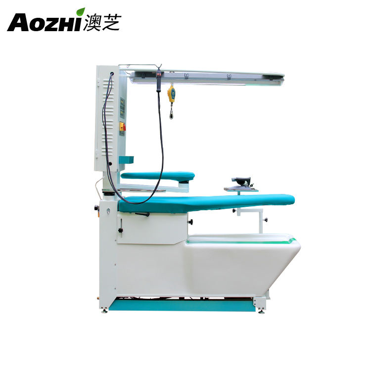 Multi-function suction blowing ironing table with stain removing and steam source Garment ironing machine