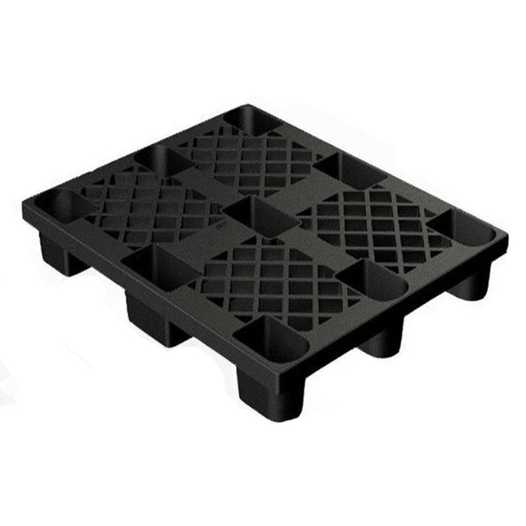 Light duty cheap price recycled 9 runner black pallet for sale