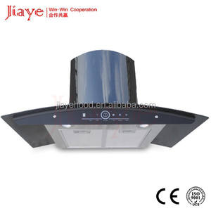 a complete set of kitchen appliance factory Premium black glass finish Marvelous Kitchen Hoods JY-HP9009