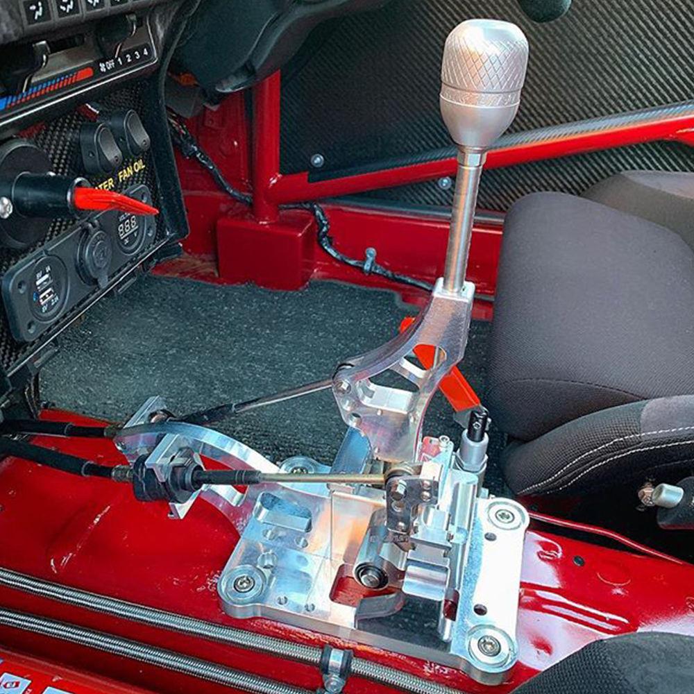 Lokar XATS64L80BN Black Double Bend Lever Transmount Automatic Transmission Shifter Kit with Black Mushroom Knob for GM 4L80E Transmission
