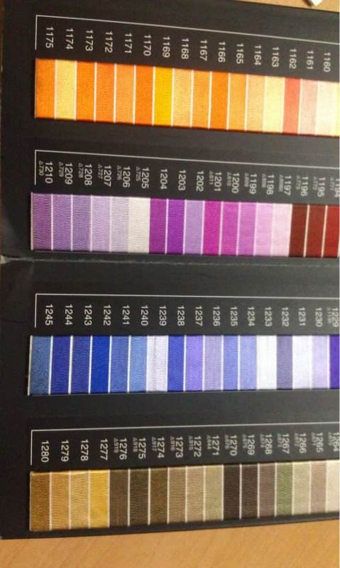 Service of customizing polyester sewing/embroidery thread color chart, thread color card, color book