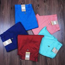 Amazon Hot Sale Summer Men's Pants Solid Color Slim Trousers