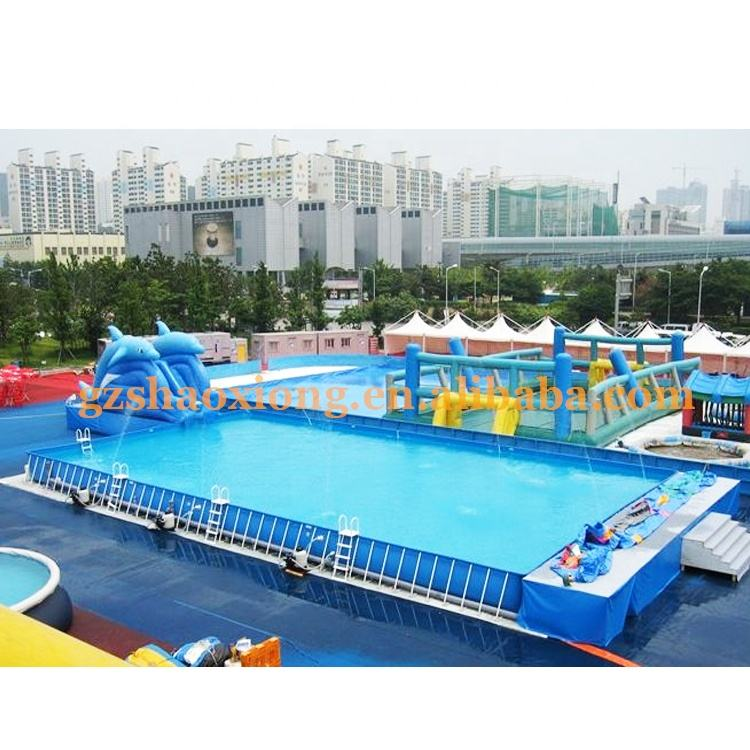 Outdoor Durable Rectangular Customized Metal Frame Inflatable Portable Swimming Pool & Accessories For Sale