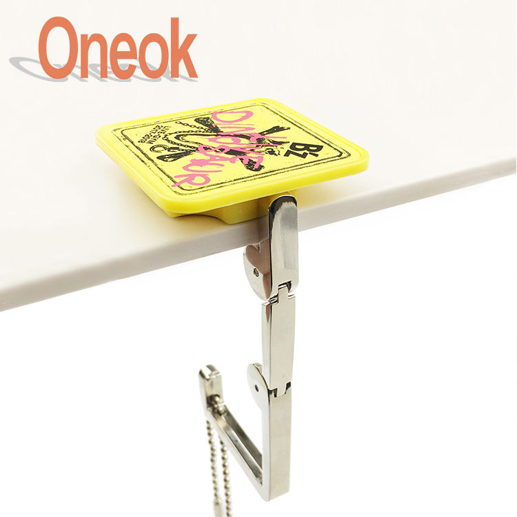 Black Thumb Personalized Gesture Table Hook Folding Bag Desk Hanger Foldable Holder