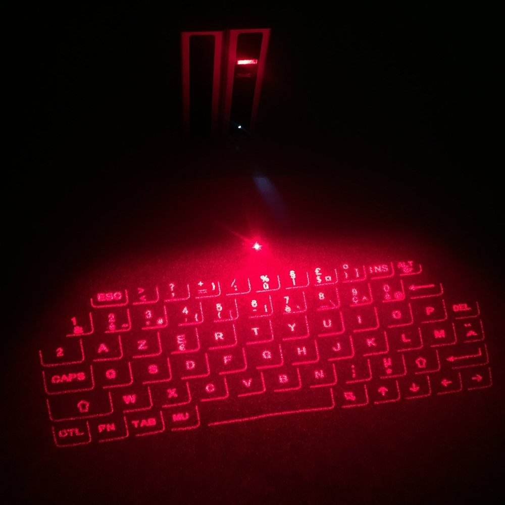 Portable Bluetooth virtual laser projection keyboard with French AZERTY Keyboard layout