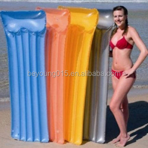 Deluxe transparent Inflatable Air Mat Pool Float with comfortable pillow