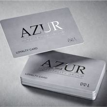 Custom embossed plastic business card