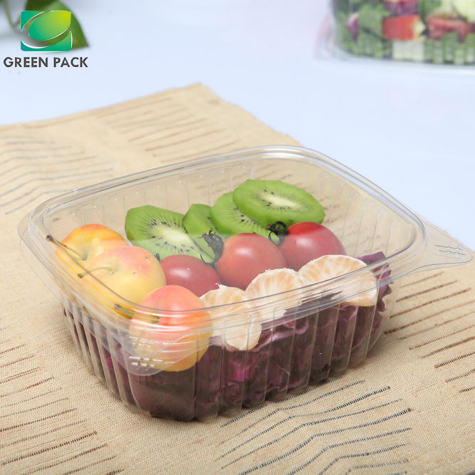 disposable plastic Transparent salad bowl