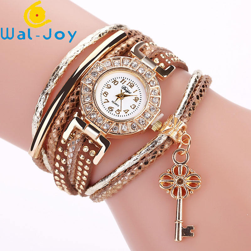 WJ-7405 Luxury Charming Fashion Quartz Watch Top Popular Bracelet Wristwatch Key Pendant Dress Watch For Lady