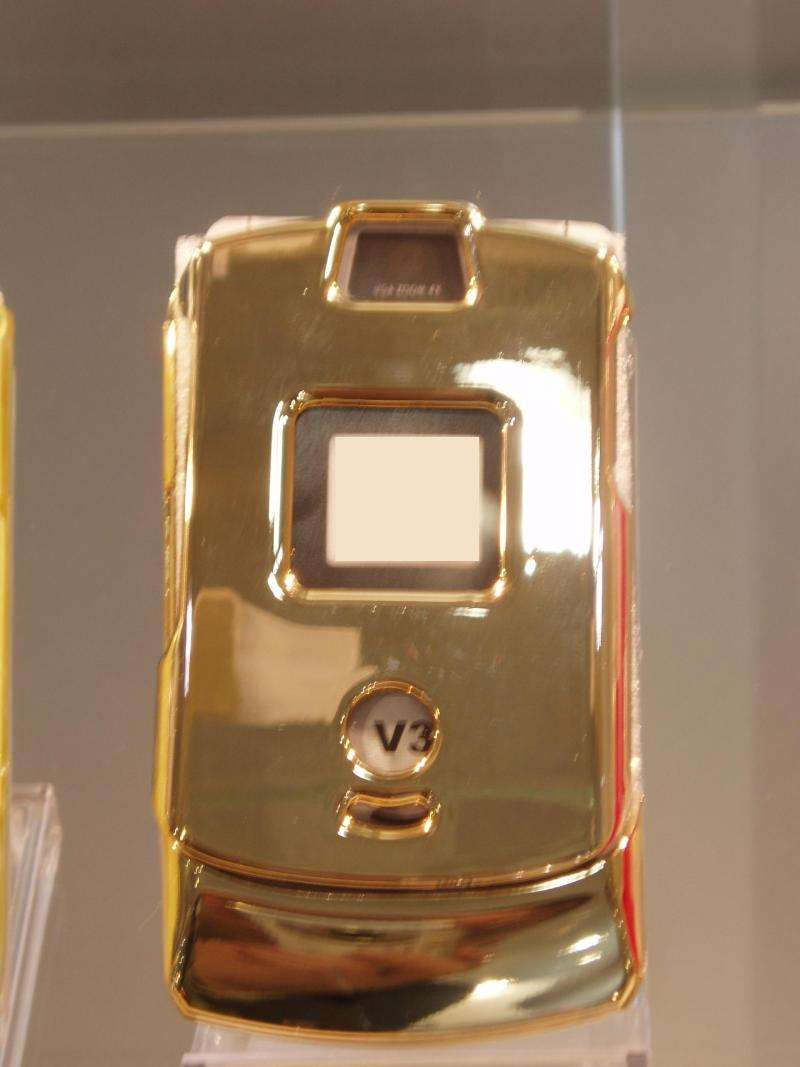 "Crystal Case "" Like A Luxus Gold "" For Motorola V3"
