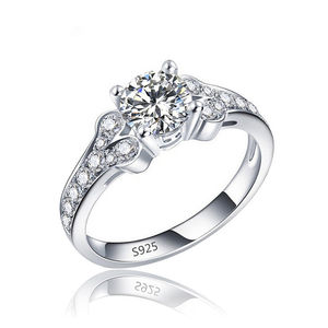 2020 Fashion Luxury Jewelry S925 Engraved Cubic Zirconia Wedding Ring Pave Setting CZ Diamond Engagement Ring