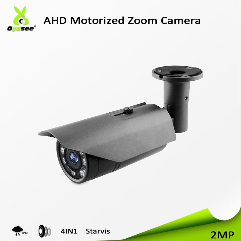 2018 Top-rated security cctv ahd bullet 2MP camera reviews sony307 sensor ir 60m UTC 4in 1 motorized lens ip66 starlight for sal