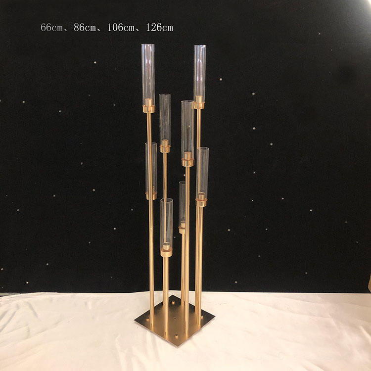 tall metal candelabra gold wedding candle holder