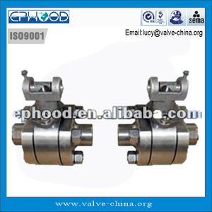 High pressure stainless steel hard seal ball valve