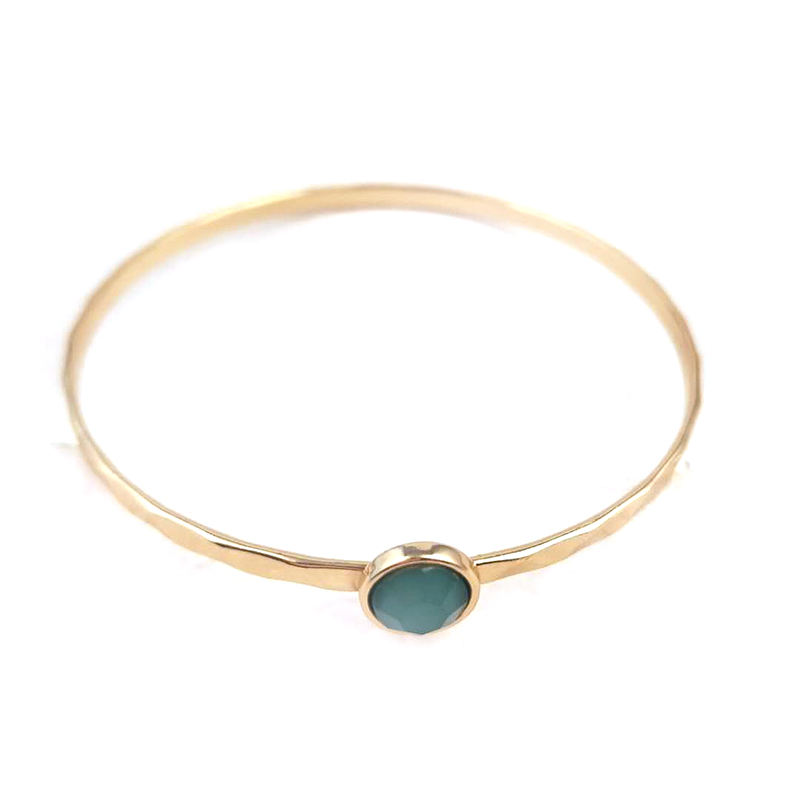 BSCI 공장 금 돌 bangle design solid 돌 bangle