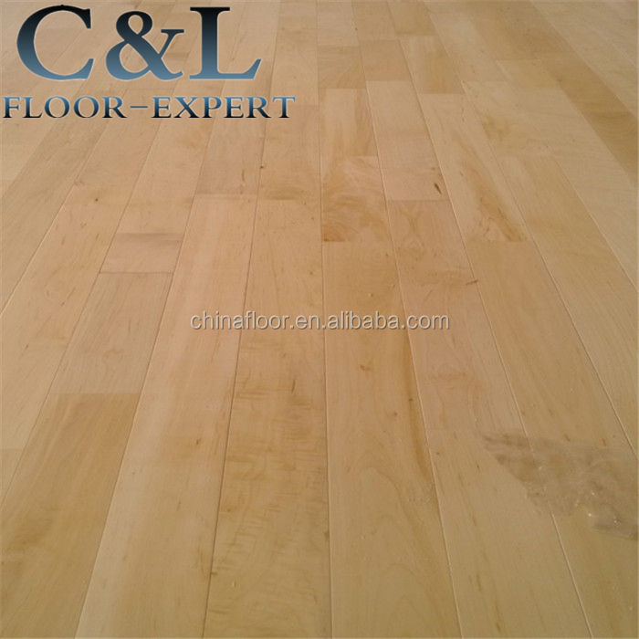 smooth prefinished sports indoor basketball court maple solid wood flooring