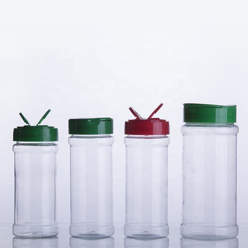 empty plastic spice jars / shaker / seasoning bottle with flip top cap plastic herbs and spice tools