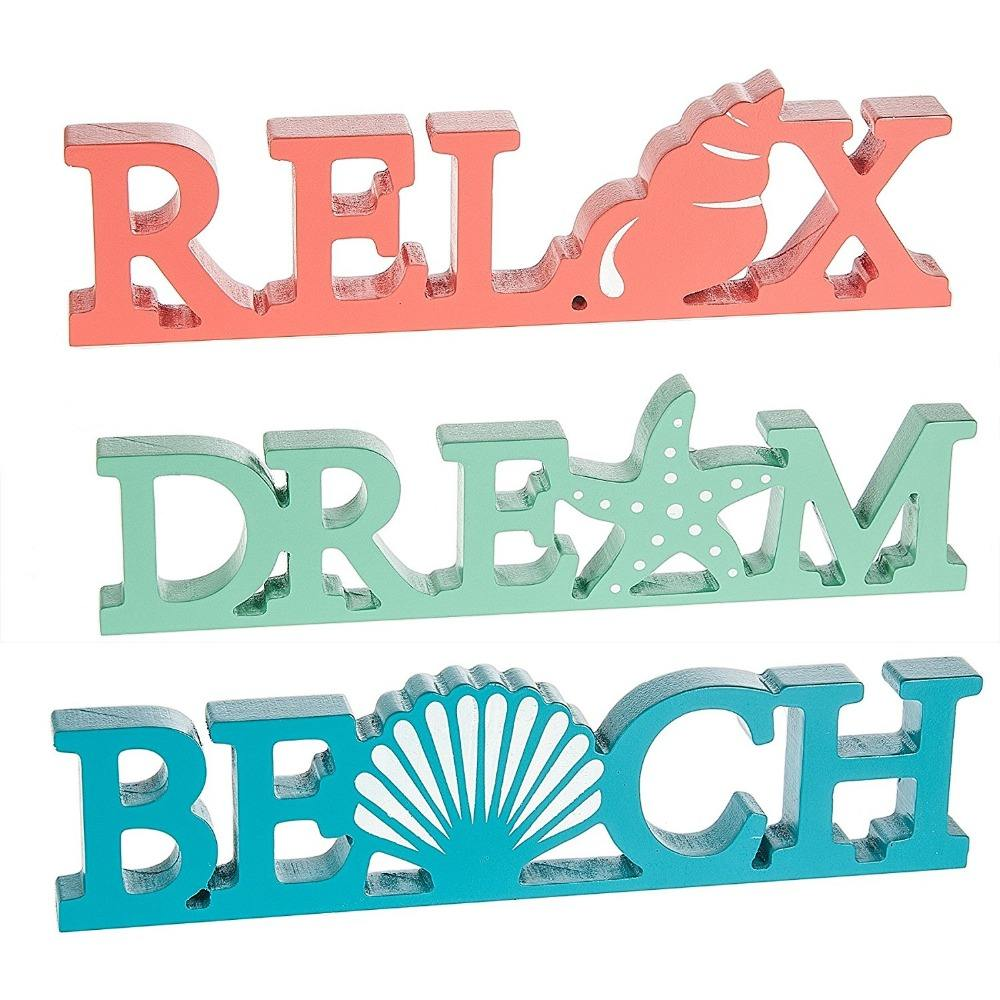 Nautical Ocean Word Saying Wall Hanging Wooden Plaques