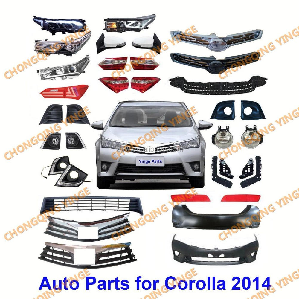 Wholesale Factory Price Auto Spare Parts for Toyota Corolla Altis 2014 Parts Accessories